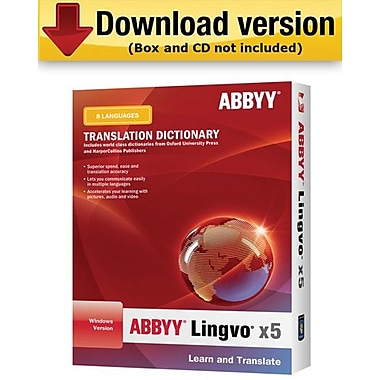 ABBYY Lingvo X5: English to 8-Languages for Windows (1-User) [Download]