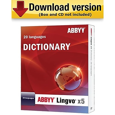 ABBYY Lingvo X5: Russian to 20 Languages Dictionary for Windows (1-User) [Download]
