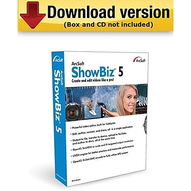 ArcSoft ShowBiz 5 for Windows (1-User) [Download]