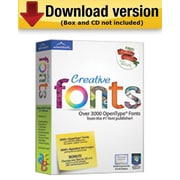 Creative Fonts for Windows (1 - User) [Download]