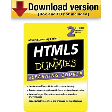 HTML 5 For Dummies - 30 Day Access for Windows (1-User) [Download]