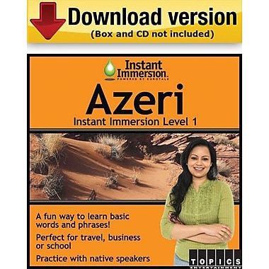 Instant Immersion Level 1- Azeri for Windows (1-User) [Download]