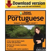 Instant Immersion Level 1- Brazilian Portuguese for Windows (1-User) [Download]