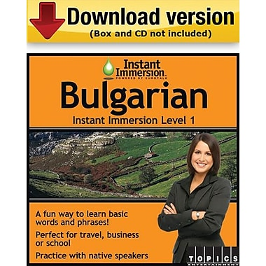 Instant Immersion Level 1- Bulgarian for Windows (1-User) [Download]