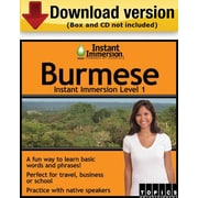 Instant Immersion Level 1- Burmese for Windows (1-User) [Download]