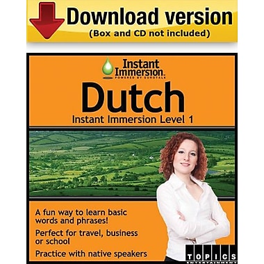Instant Immersion Level 1- Dutch for Windows (1-User) [Download]