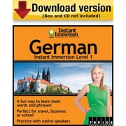 Instant Immersion Level 1- German for Windows (1-User) [Download]