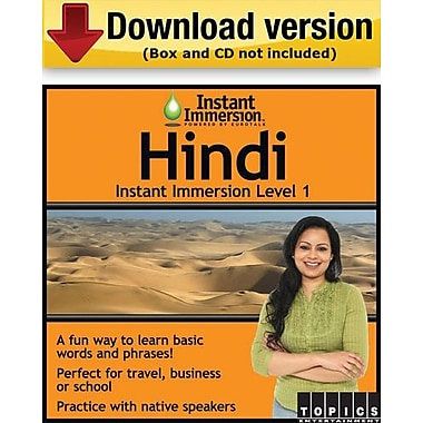 Instant Immersion Level 1- Hindi for Windows (1-User) [Download]