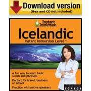 Instant Immersion Level 1- Icelandic for Windows (1-User) [Download]
