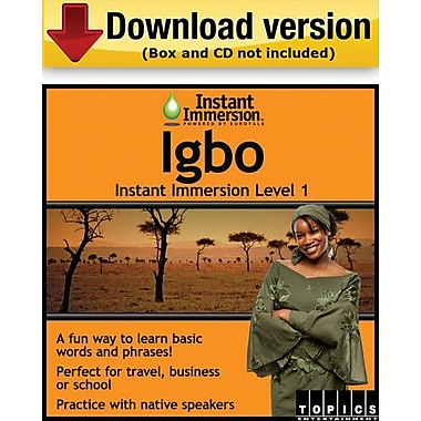 Instant Immersion Level 1- Igbo for Windows (1-User) [Download]