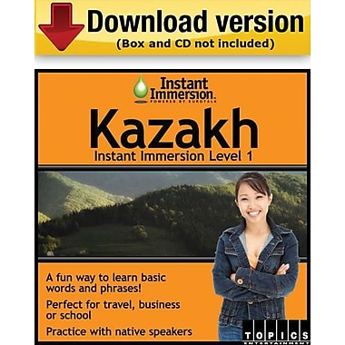 Instant Immersion Level 1- Kazakh for Windows (1-User) [Download]