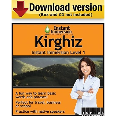 Instant Immersion Level 1- Kirghiz for Windows (1-User) [Download]