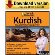 Instant Immersion Level 1- Kurdish for Windows (1-User) [Download]