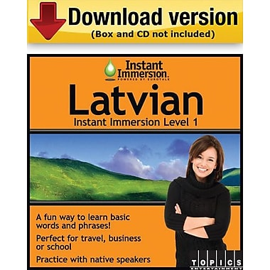 Instant Immersion Level 1- Latvian for Windows (1-User) [Download]