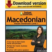 Instant Immersion Level 1- Macedonian for Windows (1-User) [Download]