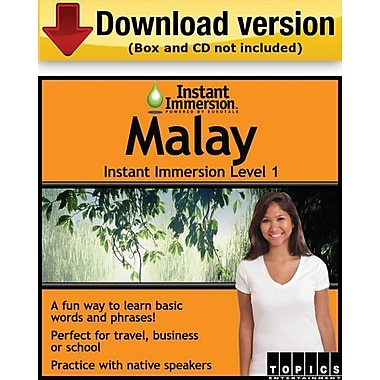 Instant Immersion Level 1- Malay for Windows (1-User) [Download]