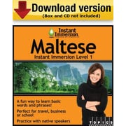 Instant Immersion Level 1- Maltese for Windows (1-User) [Download]