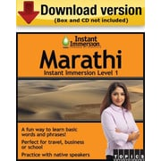 Instant Immersion Level 1- Marathi for Windows (1-User) [Download]