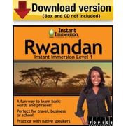 Instant Immersion Level 1- Rwandan for Windows (1-User) [Download]