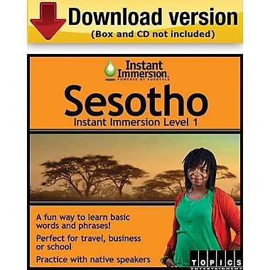 Instant Immersion Level 1- Sesotho for Windows (1-User) [Download]