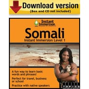 Instant Immersion Level 1- Somali for Windows (1-User) [Download]
