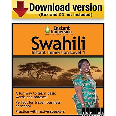 Instant Immersion Level 1- Swahili for Windows (1-User) [Download]