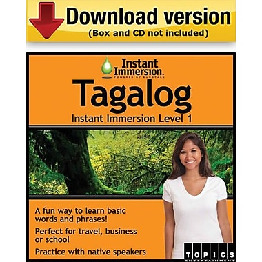 Instant Immersion Level 1- Tagalog for Windows (1-User) [Download]
