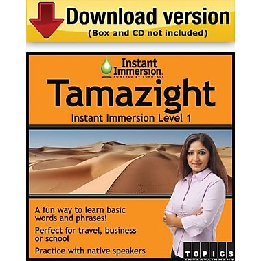 Instant Immersion Level 1- Tamazight for Windows (1-User) [Download]