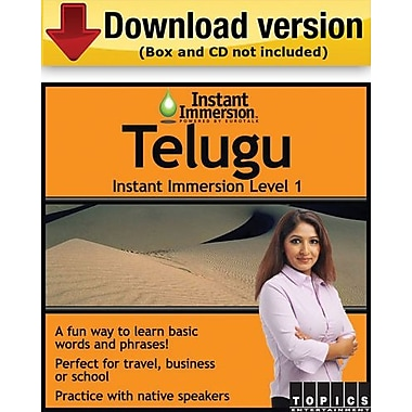 Instant Immersion Level 1- Telugu for Windows (1-User) [Download]