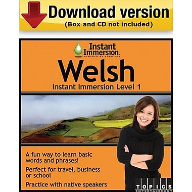 Instant Immersion Level 1- Welsh for Windows (1-User) [Download]
