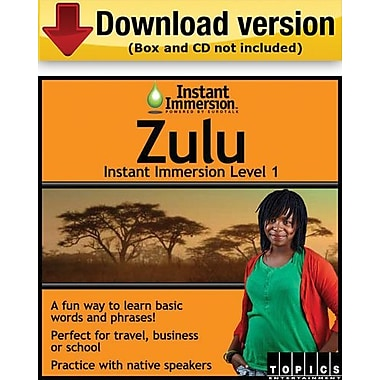 Instant Immersion Level 1- Zulu for Windows (1-User) [Download]