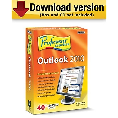Logiciel de tutoriels Professor Teaches Outlook 2010 pour Windows (1 utilisateur) [téléchargement]