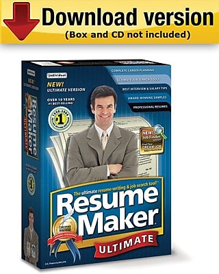 ResumeMaker Professional Ultimate 4 for Windows 1 User [Download]