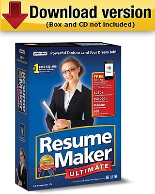 ResumeMaker Ultimate 6 for Windows 1 User [Download]