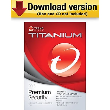 Trend Micro Titanium Premium Security 2013 for Windows (1-5 User) [Download]
