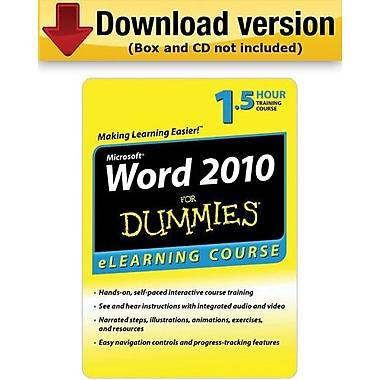 Word 2010 For Dummies – 6 mois d'accès pour Windows (1 utilisateur) [Téléchargement]