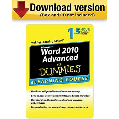 Word 2010 For Dummies Advanced - 30 Day Access for Windows (1-User) [Download]