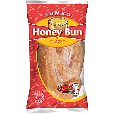 Cloverhill® Jumbo Glazed Honey Buns, 4.75 oz., 12/Pack