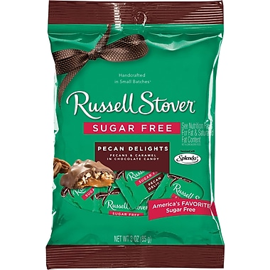 Russell Stover Pecan Delights, Sugar Free, 3 oz., 12 Bags/Box