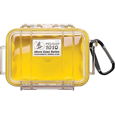 Pelican 1010 Micro Case, Yellow with Clear Lid