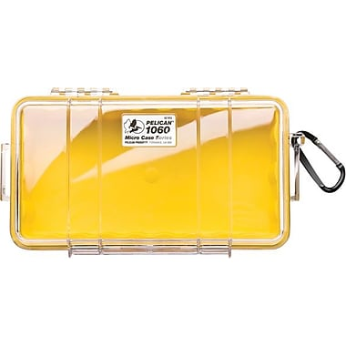 Pelican 1060 Micro Case, Clear with Yellow Liner