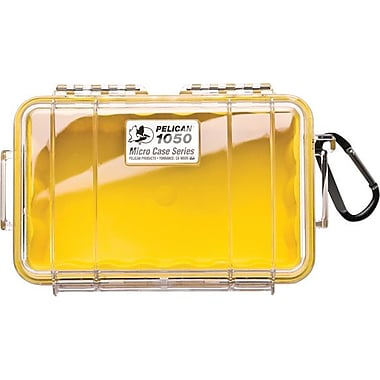 Pelican 1050 Micro Case, Clear With Yellow Liner