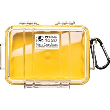 Pelican 1020 Micro Case, Clear With Yellow Liner