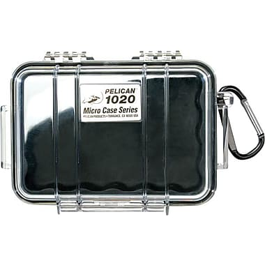 Pelican 1020 Micro Case, Black with Clear Lid