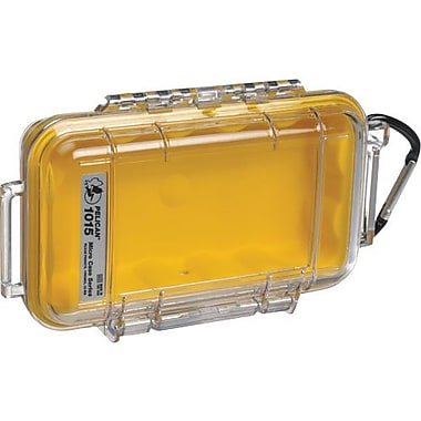 Pelican 1015 Micro Case, Yellow With Clear Lid