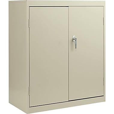 Alera® Economy Assembled Storage Cabinet with Fixed Shelves, Putty, 42in. H x 36in. W x 18in. D