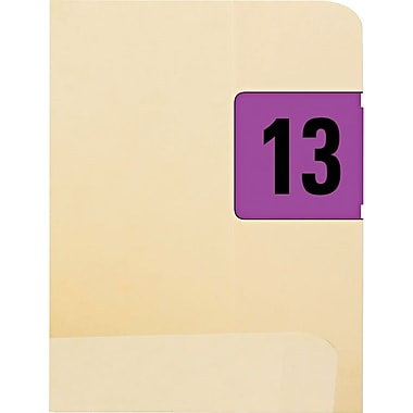 Smead Jeter-Compatible Year 2013 Labels, Purple/Black, 3/4
