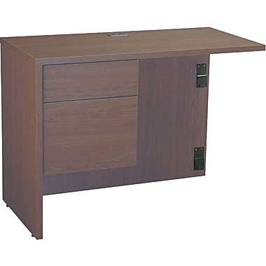 Global Industries Genoa™ Series in.Lin. Left Workstation Return, 29in. H x 40in. W x 20in. D, Mahogany