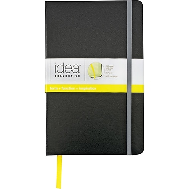 Idea Collective® Large Hardbound Journal, Wide Rule, Plain Black