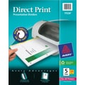 Avery Direct Print® Custom Dividers, 5-Tab, 24 Sets/Pack